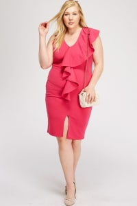 Kill'em With Ruffles - Fuchsia - Back