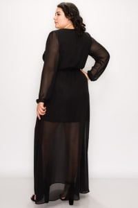 To Wow Maxi Dress - Black - Back