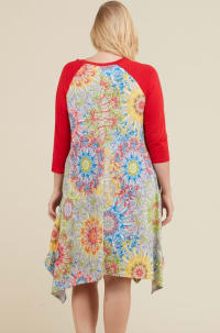 Vibrant Color Dress - Multi - Back