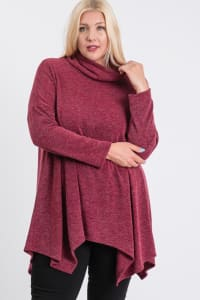 Extra Comfy Loose Top - Burgundy - Back