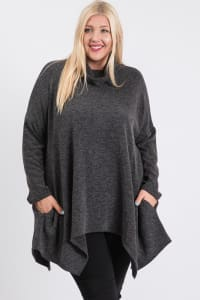 Extra Comfy Loose Top - Charcoal - Back