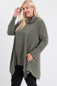 Extra Comfy Loose Top - Olive - Back