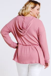 Girlish Hoodie/ Top - Mauve - Back