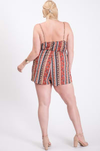 To Die For Romper - Rust / Black - Back