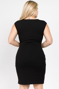 Cocktail Black x Print Dresspl - Black - Back