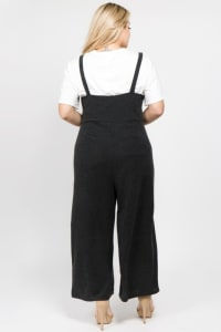 Casual Overall/ Jumpsuit - Dark Grey - Back
