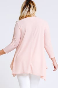 Lace x Crochet Pink Top - Blush - Back