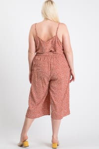Welcome to Summer Floral Jumpsuit - Rust - Back