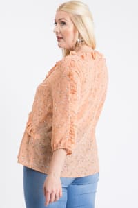 Throw On & Go Floral Top - Peach - Back