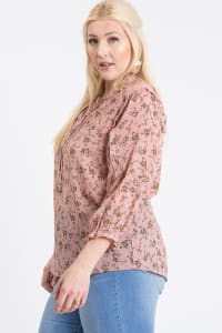 Ready To Go Lace Top - Mauve - Back