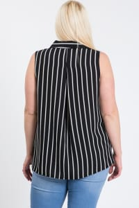 Date Night Sleeveless Top - Black - Back