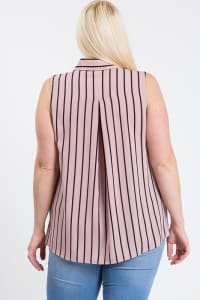 Date Night Sleeveless Top - Mauve - Back