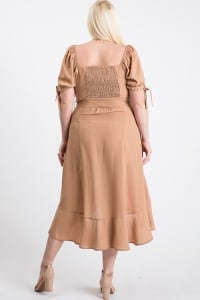 Give Your Pants A Break Summer Dress - Taupe - Back