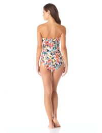 Anne Cole® Sunset Floral Twist Front Shirred One Piece Swimsuit - Multi - Back