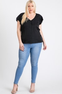Loosen It Top - Black - Back