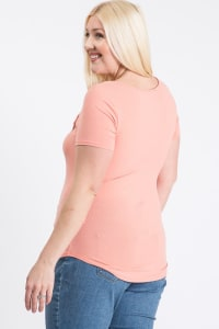 Your Everyday Rib Top - Pink - Back