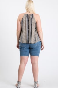 Summer-Loving Sleeveless Top - Black Multi - Back