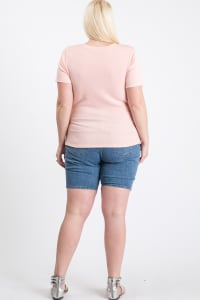 Casual Top With A Twist - Pink - Back