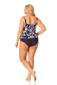 Anne Cole® Holiday Paisley Tankini Swimsuit Top - Multi - Back