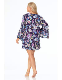 Pre-Order Anne Cole® Holiday Paisley Lace-Up Tunic Swimsuit Cover-Up - Multi - Back