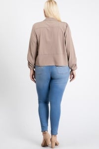 Duty Calls Blazer - Taupe - Back