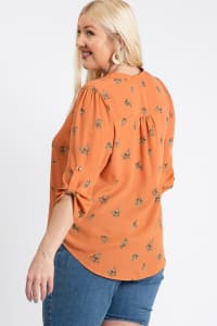 Over Wrap Top - Orange - Back
