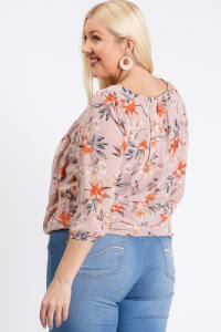 Ah-mazing Chiffon Floral Top - Pink - Back