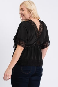 Super Sexy Lace Top - Black - Back