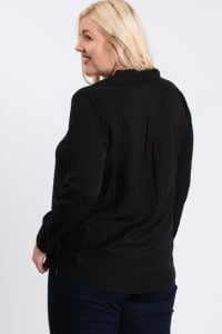 Collar Shirt - Black - Back