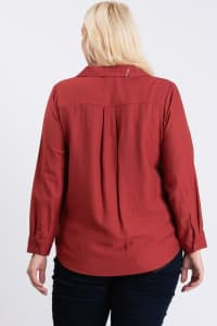Collar Shirt - Terracotta - Back
