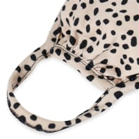 Spotted Reusable Face Mask with Filter Pocket - Khaki - Back