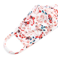Floral Berry Vine Reuseable Face Mask - Ivory - Back