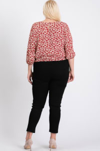 Flowery Bottom Tie Shirt - Burgundy - Back