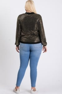 Bling Bling Sequin Jacket - Gold - Back