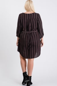 Casually Chic Shirt Dress - Black - Back