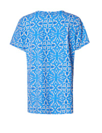 Caribbean Joe® Criss Cross Knit Top - Blue - Back
