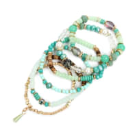 Aquamarine Multi-stone Beads Bracelet - Turquoise Mint - Back