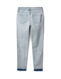 Mid Rise Skinny Jean With Embroidery On The Leg - Bleach - Back
