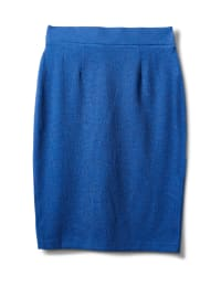 Faux Wrap Skirt with Buckle Trim - Indigo coast - Back
