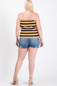 Hot Days Tank Top - Mustard - Back