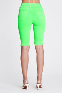 Bold Green Neon Capri Pants - Neon green - Back