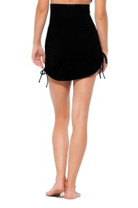 Anne Cole® Live in Color Tummy Control Swimsuit Skirt Bottom - Black - Back