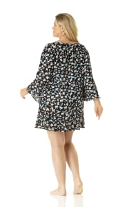 Anne Cole® Beautiful Bunches Tunic Swimsuit Cover-Up - Plus - Multi - Back