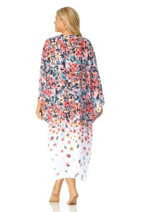 PRE ORDER Anne Cole® Sunset Floral Maxi Swimsuit Cover-Up - Multi - Back