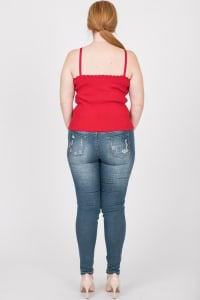 Every Mood Tank Top - Red - Back