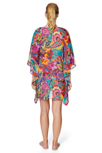 PRE ORDER Tahari® Paris Floral Tunic Swimsuit Cover-Up - Multi - Back