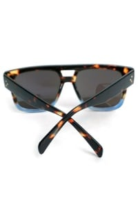Fashionable Mirrored Sunglasses - Black - Back