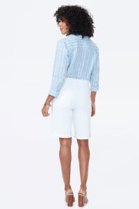 PRE ORDER NYDJ Pull On Shorts with Rolled Cuff - Optic White - Back