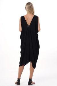 Iluh Kaftan - Black - Back