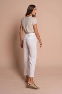 Taylor High Waist Pants - Off white - Back